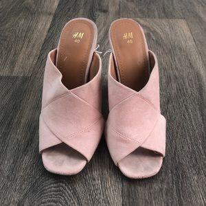Pale Pink Heeled Sandal 👡